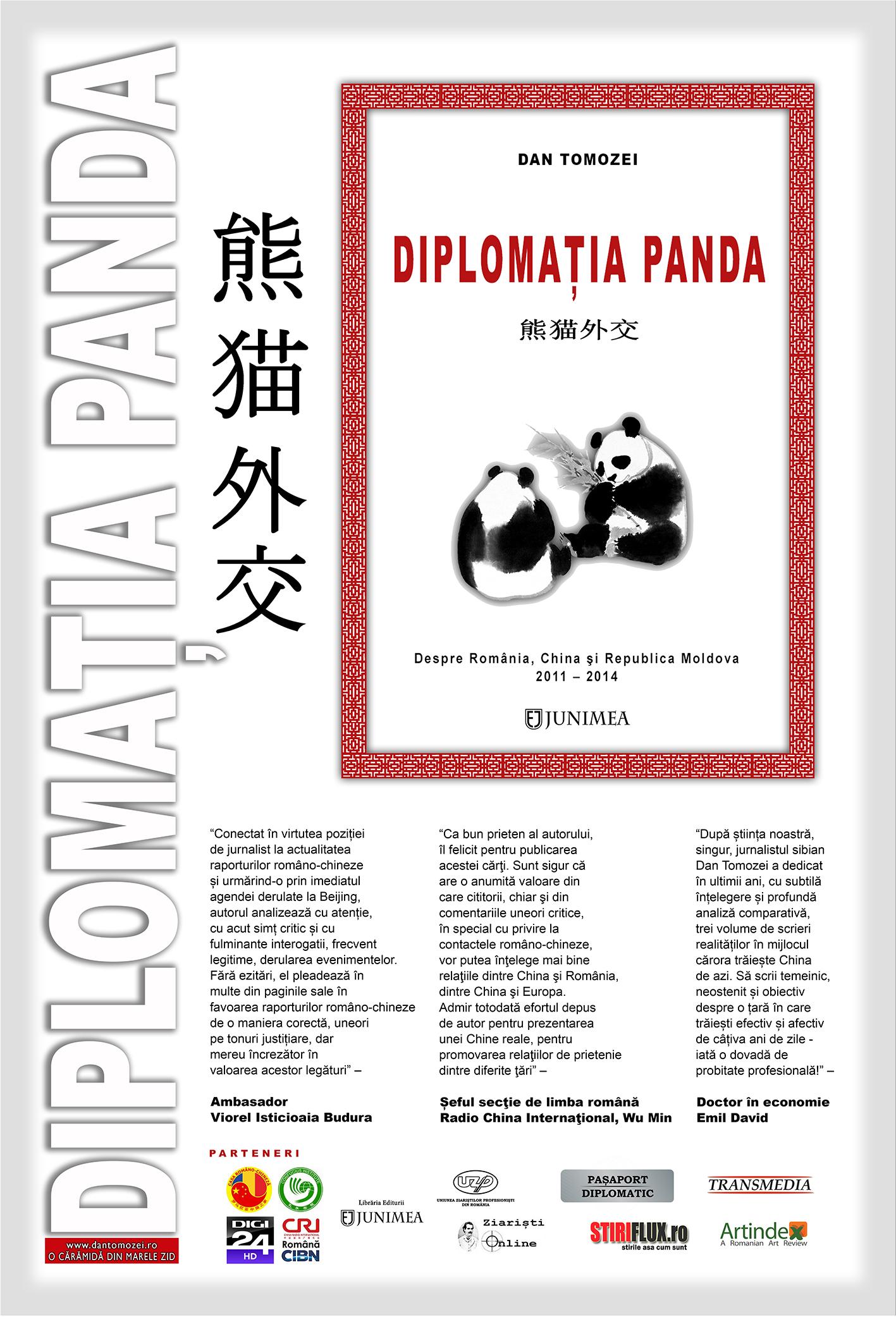 Diplomatia Panda, un nou volum semnat Dan Tomozei - Afis
