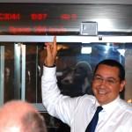 Premierul Victor Ponta, 298 km-ora cu trenul Tianjin - Beijing, 02.09.2014