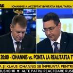 Confruntare Iohannis vs Ponta, Realitatea TV 11.11.2014