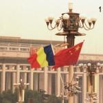 Tricolorul Romaniei in Piata Tian Anmen, 01.09.2014