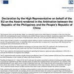 UE Delcaratie UE Arbitraj Filipine-China_15.07.2016