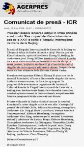 Comunicat ICR _PAS CU PAS China